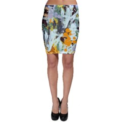 Abstract Country Garden Bodycon Skirts by digitaldivadesigns
