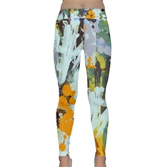 Abstract Country Garden Yoga Leggings by digitaldivadesigns