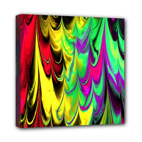 Fractal Marbled 14 Mini Canvas 8  X 8  by ImpressiveMoments