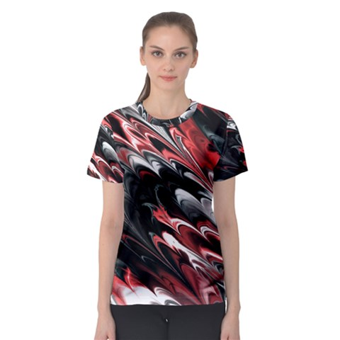 Fractal Marbled 8 Women s Sport Mesh Tees by ImpressiveMoments