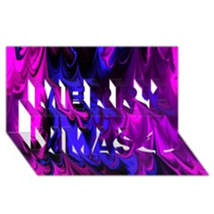 Fractal Marbled 13 Merry Xmas 3d Greeting Card (8x4)  by ImpressiveMoments