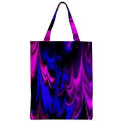 Fractal Marbled 13 Zipper Classic Tote Bags by ImpressiveMoments