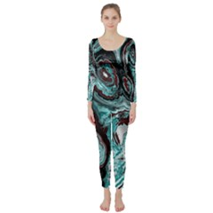 Fractal Marbled 05 Long Sleeve Catsuit by ImpressiveMoments