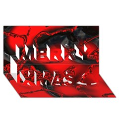 Abstract Art 11 Merry Xmas 3d Greeting Card (8x4)  by ImpressiveMoments