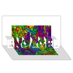 Liquid Plastic Engaged 3d Greeting Card (8x4)  by ImpressiveMoments