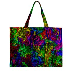 Liquid Plastic Zipper Tiny Tote Bags
