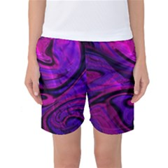 Wet Wallpaper, Pink Women s Basketball Shorts by ImpressiveMoments
