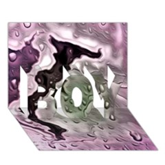 Wet Metal Pink Boy 3d Greeting Card (7x5) by ImpressiveMoments
