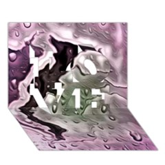 Wet Metal Pink Love 3d Greeting Card (7x5)