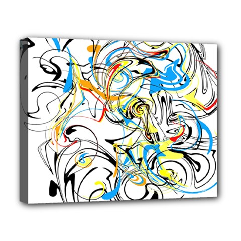 Abstract Fun Design Deluxe Canvas 20  X 16   by digitaldivadesigns