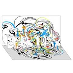 Abstract Fun Design Best Bro 3d Greeting Card (8x4)  by digitaldivadesigns