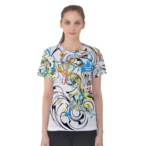 Abstract Fun Design Women s Cotton Tees by digitaldivadesigns