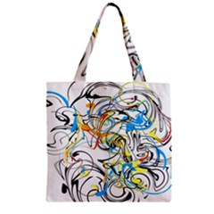 Abstract Fun Design Zipper Grocery Tote Bags by digitaldivadesigns