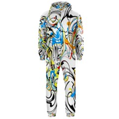 Abstract Fun Design Hooded Jumpsuit (men)