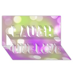 Modern Bokeh 7 Laugh Live Love 3d Greeting Card (8x4)  by ImpressiveMoments