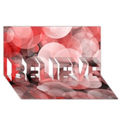 Modern Bokeh 10 Believe 3d Greeting Card (8x4)