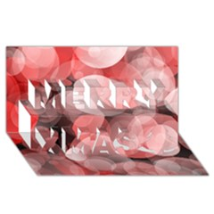 Modern Bokeh 10 Merry Xmas 3d Greeting Card (8x4)  by ImpressiveMoments