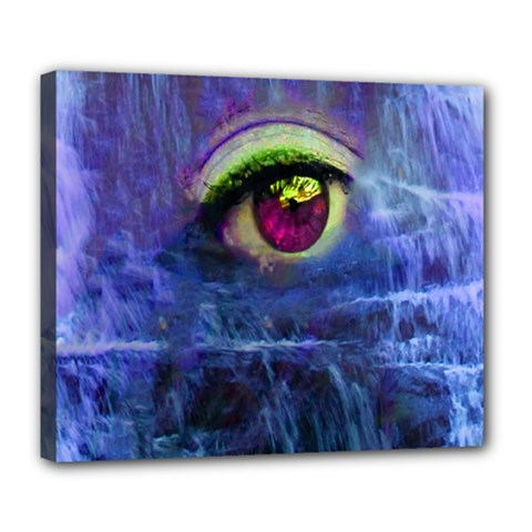 Waterfall Tears Deluxe Canvas 24  X 20   by icarusismartdesigns