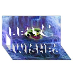 Waterfall Tears Best Wish 3d Greeting Card (8x4)