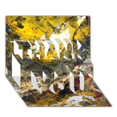 Surreal Thank You 3d Greeting Card (7x5)  by timelessartoncanvas