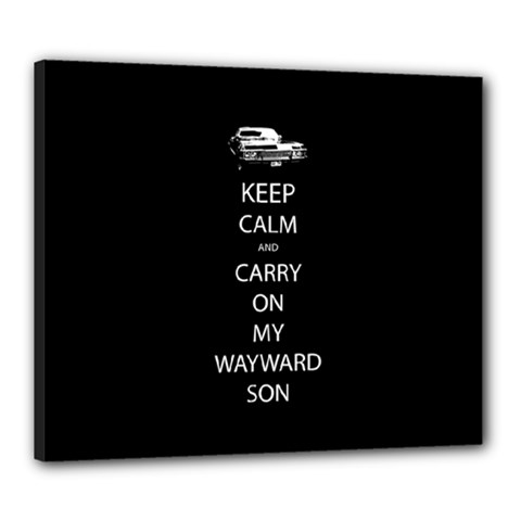 Keep Calm And Carry On My Wayward Son Canvas 24  X 20  (framed) by TheFandomWard