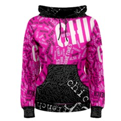 Hot Pink Chic Typography  Women s Pullover Hoodie