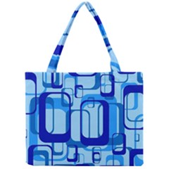 Retro Pattern 1971 Blue Tiny Tote Bags
