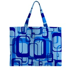 Retro Pattern 1971 Blue Zipper Tiny Tote Bags by ImpressiveMoments