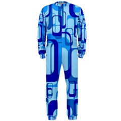 Retro Pattern 1971 Blue Onepiece Jumpsuit (men)  by ImpressiveMoments