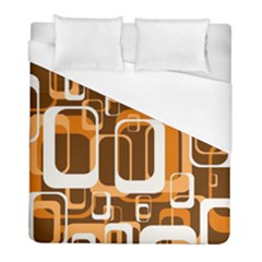 Retro Pattern 1971 Orange Duvet Cover Single Side (twin Size)