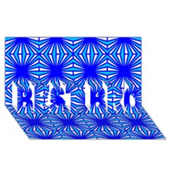 Retro Blue Pattern Best Bro 3d Greeting Card (8x4)  by ImpressiveMoments