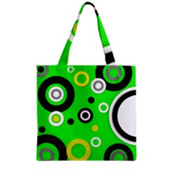 Florescent Green Yellow Abstract  Grocery Tote Bags