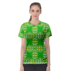 Retro Green Pattern Women s Sport Mesh Tees by ImpressiveMoments