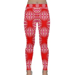 Retro Red Pattern Yoga Leggings by ImpressiveMoments