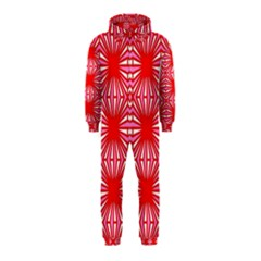 Retro Red Pattern Hooded Jumpsuit (kids) by ImpressiveMoments