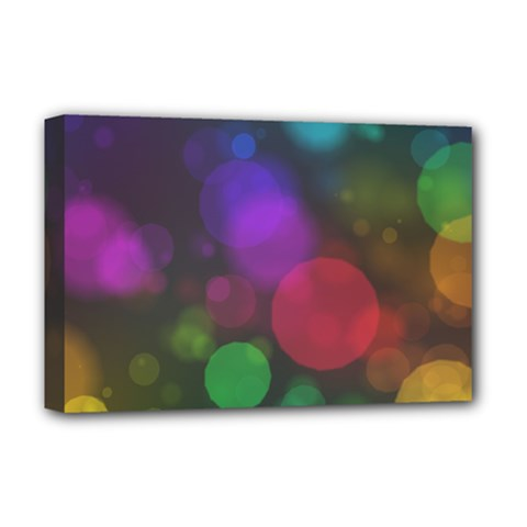 Modern Bokeh 15 Deluxe Canvas 18  X 12   by ImpressiveMoments