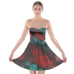 Modern Bokeh 15b Strapless Bra Top Dress by ImpressiveMoments