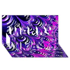Special Fractal 31pink,purple Merry Xmas 3d Greeting Card (8x4)