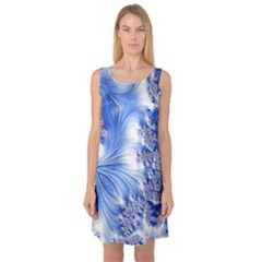 Special Fractal 17 Blue Sleeveless Satin Nightdresses by ImpressiveMoments