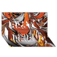 Special Fractal 24 Terra Best Friends 3d Greeting Card (8x4)  by ImpressiveMoments