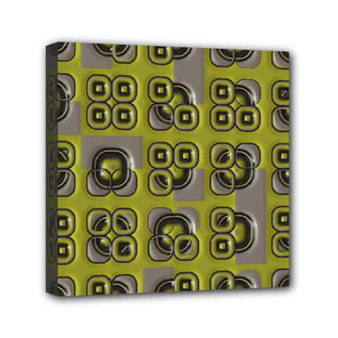 Plastic Shapes Pattern Mini Canvas 6  X 6  (stretched) by LalyLauraFLM