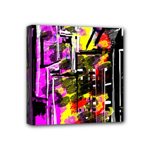 Abstract City View Mini Canvas 4  X 4  by digitaldivadesigns