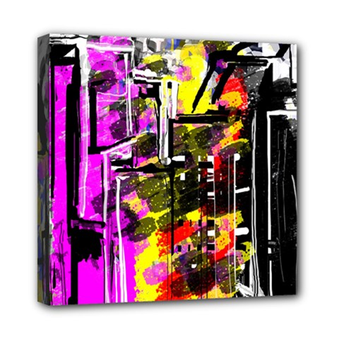 Abstract City View Mini Canvas 8  X 8  by digitaldivadesigns