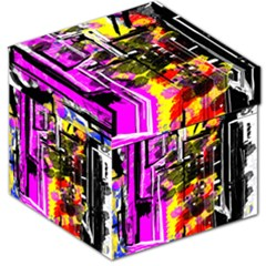 Abstract City View Storage Stool 12   by digitaldivadesigns