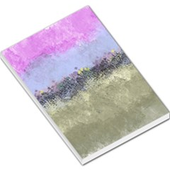 Abstract Garden In Pastel Colors Large Memo Pads by digitaldivadesigns