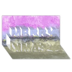 Abstract Garden In Pastel Colors Merry Xmas 3d Greeting Card (8x4)
