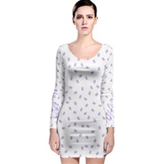 Officially Sexy Os Collection Purple & White Long Sleeve Bodycon Dress by OfficiallySexy