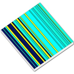 Hot Stripes Aqua Small Memo Pads by ImpressiveMoments