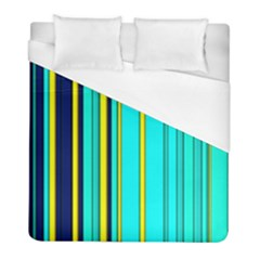 Hot Stripes Aqua Duvet Cover Single Side (twin Size) by ImpressiveMoments