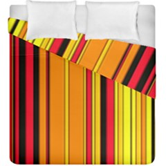 Hot Stripes Fire Duvet Cover (king Size) by ImpressiveMoments